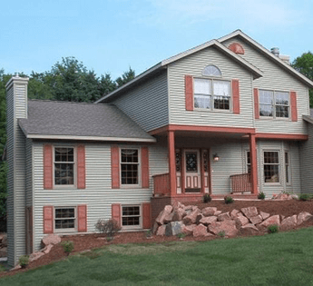 custom house built by home contractors in Wausau