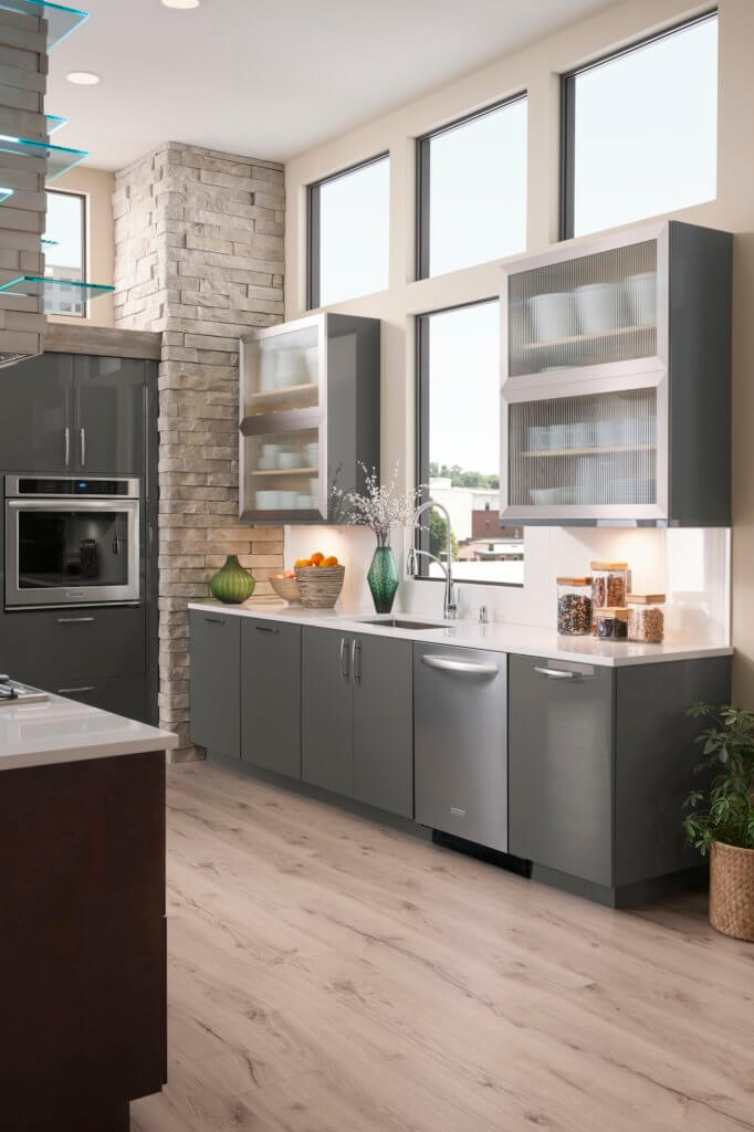 Charcoal Gray Cabinets - bldg